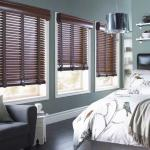 Wood & Faux Wood Blinds In The Bedroom