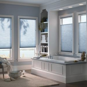 Cellular Shades In The Bathroom