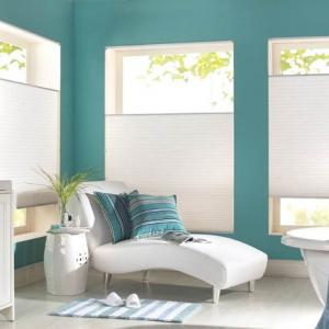 Cellular Shades Corner Bathroom