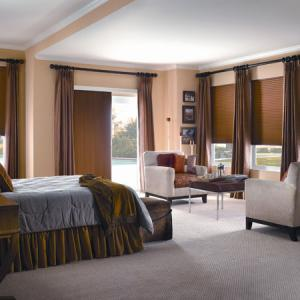 Cellular Shades Double Bedroom Wall