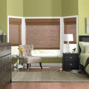 Natural Woven Blinds In The Bedroom