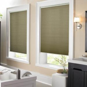 Pleated Shades Bathroom