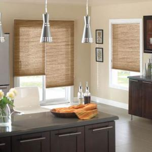 Pleated Shades Kitchen