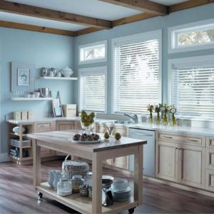 Wood & Faux Wood Blinds Kitchen
