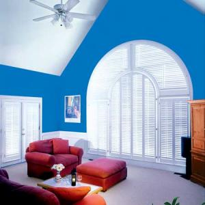 Wood Shutters High Ceiling