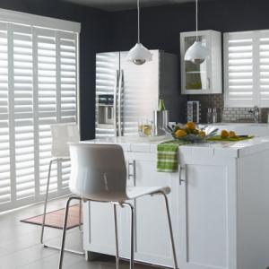 Wood Shutters In The Kitchen