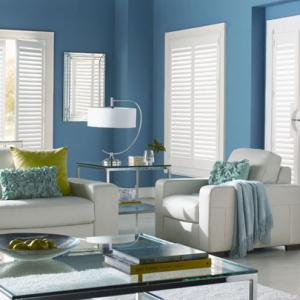 Wood Shutters Living Room
